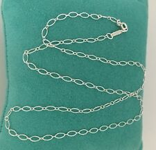 "Tiffany & Co 18"" Sterling Silver Oval Link Chain Necklace NEW"