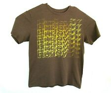 Hurley Mens Large Premium Fit Brown Logo Crew Neck T Shirt