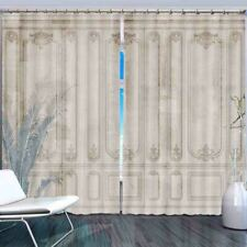 Blue White Alignment 3D Curtain Blockout Photo Printing Curtains Drape Fabric