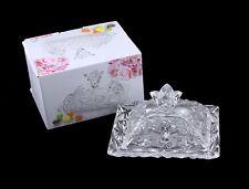 Buena calidad vidrio Mantequillera Con Tapa Y Manija Cristal Look Mantequillera
