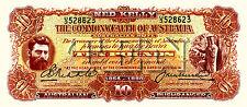 4 X BUSHRANGER NOVETLY BANK NOTES  KELLY MORGAN HALL THUNDERBOLT  PRE DECIMAL