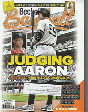BASEBALL CARD PRICE GUIDE BECKETT OCTOBER 2019 AARON JUDGE COVER