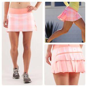 NWOT Lululemon Pace Setter Skort Pink Coral. Sz 4 Reg