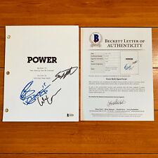 POWER SIGNED PILOT SCRIPT BY 3 CAST MEMBERS w/ BECKETT BAS COA 50 CENT OMARI H.