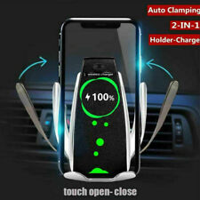 360° Automatic Wireless Fast Car Charging Charger Mount Clamping Phone Holder US