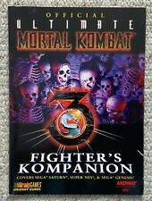 Official Ultimate Mortal Kombat 3 (MK3) Fighter's Kompanion (1996) Brady!