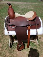 """15.5"""" Handmade Buford Western Saddle, FQHB, Highest Quality, and Gorgeous!!"""