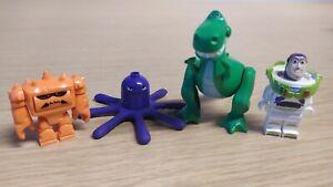 LEGO Toy Story Minifigure bundle Buzz Lightyear Chunk Stretch Rex Dinosaur x4