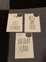 Rae Dunn Greeting Csrds Set Of 3 Variety Pack New With Tags