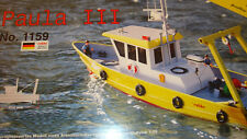 ROBBE RADIO REMOTE CONTROLLED MODEL BOAT KIT 1:25 SCALE 710MM LONG PAULA 3 1159