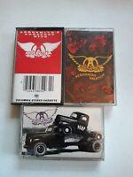 Lot Of 3 Aerosmith Vintage Cassette tapes
