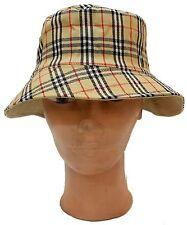 Plaid Bucket Boonie Hunting Fishing Outdoor Cap Men Women Sun Camping Cotton Hat