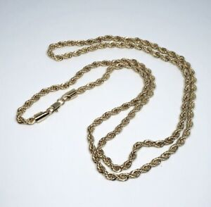 Men's 14k Gold Stamped Rope Chain 3mm 24 Inch