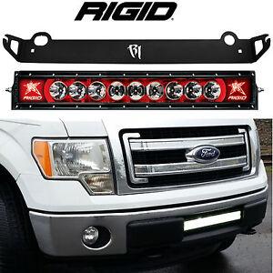 """Rigid Radiance+ 20"""" LED Light Bar & Bumper Mount RED Back Light for Ford F150"""