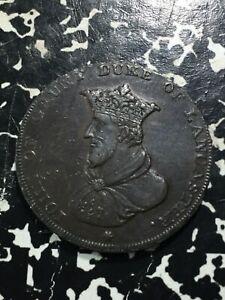 1794 Great Britain John of Gaunt Duke of Lancaster Conder Token 1/2 Penny LotPJ7