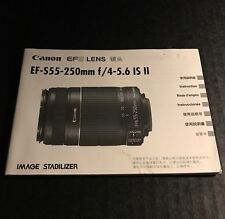 Canon Ef-S 55-250mm f/4-5.6 Is Ii Camera Lens - User Instruction Manual
