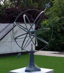sonnenuhr aus bronze gartendeko terrassendeko skulptur gartenuhr landhaus 74