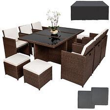 Ratán sintético muebles de jardín conjunto aluminio comedor mesa taburetes set