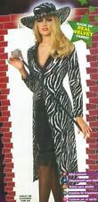 Ms. Kool Ladies Pump Zebra Print Coat Costume Size Medium