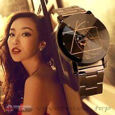 Luxury Men's Watch Lover Compass Date Stainless Steel Women Wrist Watch Black