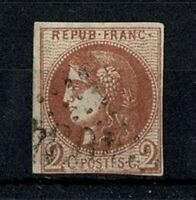"FRANCE STAMP TIMBRE 40 B "" CERES BORDEAUX 2c BRUN-ROUGE "" OBLITERE A VOIR V569"