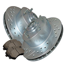 Double Cross-Drilled Slotted Zinc Coated Premium Rotors w/Ceramic Pads ATL048779