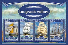 Guinea 2017 MNH Tall Ships Krusenstern 4v M/S Sailing Sail Boats Stamps