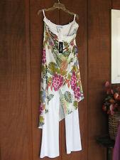 Joseph Ribkoff Dress Jumpsuit Vanilla Multi Size US 14 UK 16