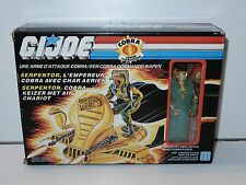 1986 GI JOE AIR CHARIOT w/ SERPENTOR MIB SEALED CONTENTS NRFB - HASBRO BELGIUM