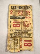 Rare VINTAGE Oct. 1st 1967 San Francisco Giants TICKET STUB Candlestick Park!