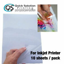 A4 Transparent Clear Glossy Sticker Paper Label for inkjet printer 10 sheet/pack