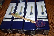 Set of 4 Franz Porcelain Sculptured Spoon Grapes Design FZ00145 NEW IN Box