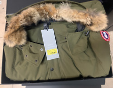 Canada Goose Wyndam Down Parka with Fur-Trim Hood Retail $950.00 Authentic