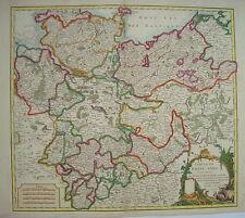 Braunschweig Hamburg Rostock Hannover Wittenberg Kupferstich Landkarte 1752