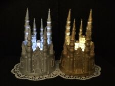 Gold/Silver Cinderella Castle Cake Topper with Light, Weddings, Quinces, Sweet 1