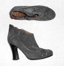 JANET & JANET low boots zippées daim gris P 40 TBE