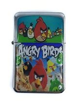Briquet Angry Birds Silver rechargeable coupe-vent huile essence Smoking Star Flip Top