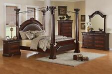 Neo Renaissance Poster Canopy Bed 5 pc. King Bedroom Furniture Set w/ Chest NEW