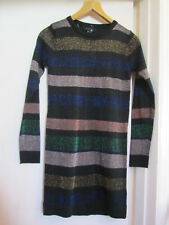 Short Black & Multicoloured Metallised Fibre Jumper Dress in Size 8 - NWT