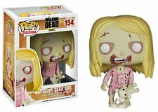 FUNKO POP TELEVISION THE WALKING DEAD #154 TEDDY BEAR GIRL~RARE VINYL FIGURE 🎀