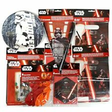 Star Wars Party Pack for 8 People - Plates Banners Balloons Party Bags & Invites
