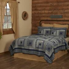 COUNTRY PRIMITIVE RUSTIC COLUMBUS PATCHWORK QUILT COLLECTION VHC BRANDS