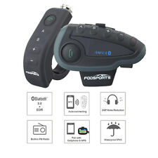 Motorcycle Helmet Interphone Bluetooth Intercom Headset FM NFC V8 1200m