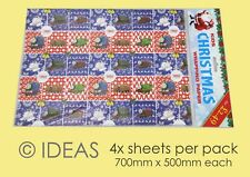 Thomas the Tank Engine Kids Christmas Quality Wrapping Paper 4 x Sheets Xmas