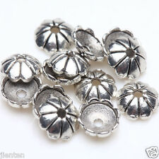 100Pcs Tibet Silver Metal Loose Spacer Bead Flower Caps Jewelry Finding DIY 6mm