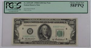 1950B $100 Federal Reserve *Star* Note Fr. 2159-H PCGS Choice About New 58 PPQ