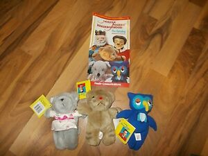 Mr. Rogers Neighborhood Daniel Tiger Henrietta Pussycat Finger Puppets Ex owl