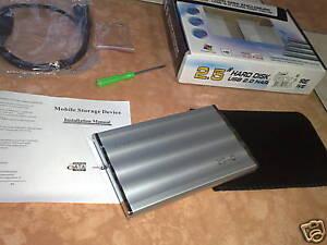 KIT BOX CASE HARD DISK 2.5 HD SATA USB PC NOTEBOOK MAC*