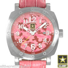 Brand New US ARMY Women's PINK Rapid Fire Watch