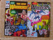 Dos comics, The New Warriors, nº 20 y 21, Stan Lee, Comics Forum, Marvel, 1993